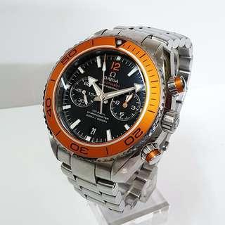 台灣保單 OMEGA 歐米茄 9300計時機芯 大型橘海馬 45mm