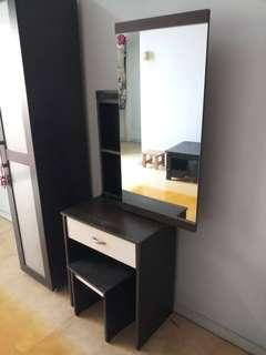[USED] DRESSING TABLE AND CHAIR