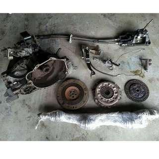 Proton Waja 1.6 Campro/CPS manual Gearbox Complete set
