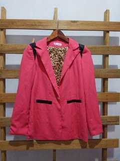 Korean pink blazer