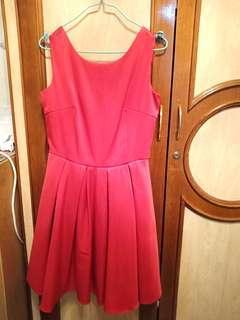 Red dress cakep tebel