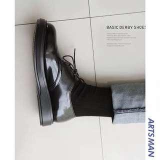 🚚 韓版時尚增高學生帥氣低幫鞋子皮鞋