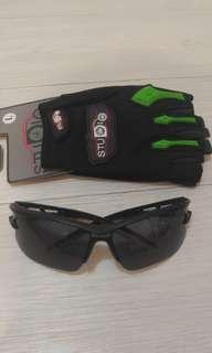 單車手套和單車眼鏡(全新)