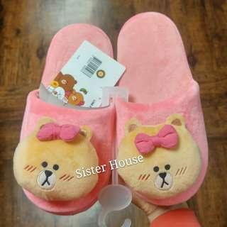 🇰🇷 LINE Friends Choco Indoor Slippers 熊妹室內拖鞋