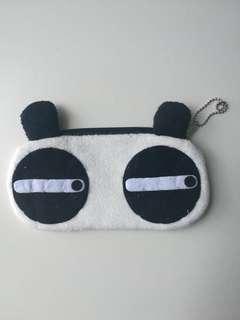 Panda Emoji Pouch for Sunglasses Keys, Coins, Pencils, etc.