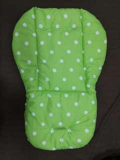 BN Stroller Cushion (Green Polka Dot)