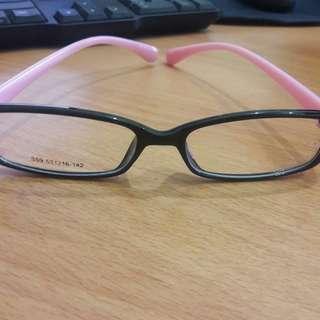 New Kacamata Bening Import Frame Lucu Hitam Pink