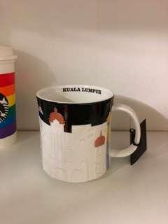 Kuala Lumpur KL Black Relief Starbucks Mug