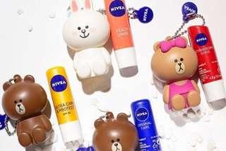 Limited Edition] Thailand NIVEA x LINE Friends Lip Balm (FREE Lip Holder)