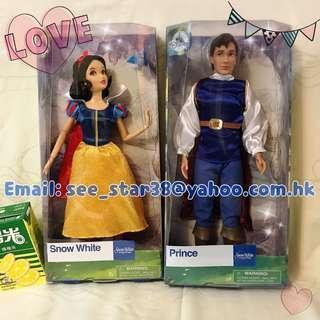 美國迪士尼白雪公主白馬王子經典款公仔 Disney Snow White & Prince Classic Doll