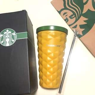 🍍Starbucks Pineapple Coffee Tumbler Stainless Steel Straw Cup 菠蘿杯 吸管杯 不鏽鋼杯 飲筒