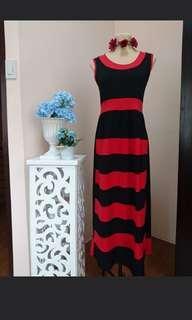 🎀Selling long dress  black/red design