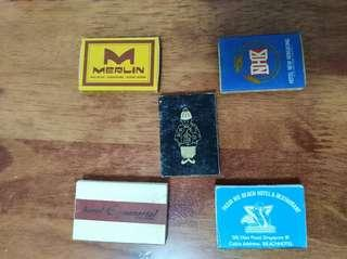 Old match boxes