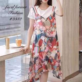 Korean 2in1 Blouse and Dress - COD