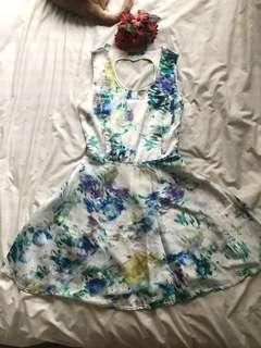 Watercolour Print Dress