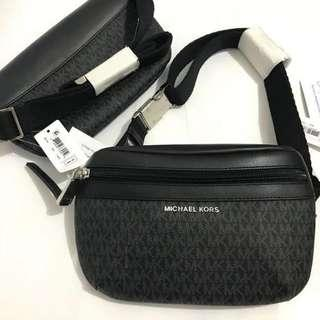 Michael Kors Signature Black Belt Bag