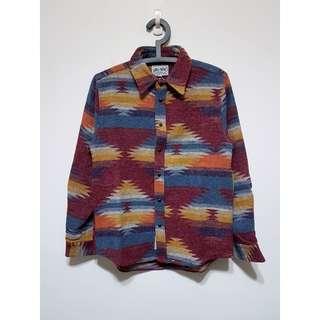 🚚 印地安風格毛料襯衫