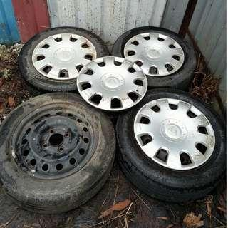 15 Inch Rim PCD 114 (Free Tyre) (Contact 019-3444383)