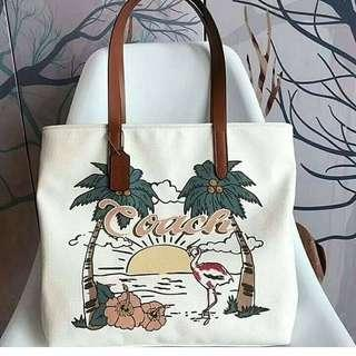 COACH HAWAIIAN CANVAS TOTE