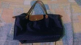 Authentic Longchamp Le Pliage mulberry-colored bag (Large, long handle)