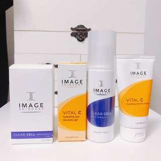 100% new USA Image Skincare serum + toner + enzyme mask + eye gel