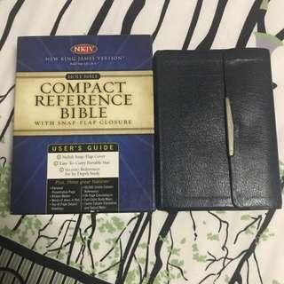NKJV Compact Reference Bible with Snap Flap Closure