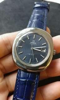 Omega De Ville 自動錶, 罕有靚籃間面, 少有橢圓外殼,已抺油@@*