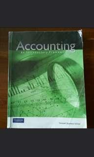 Accounting, An Introductory Framework