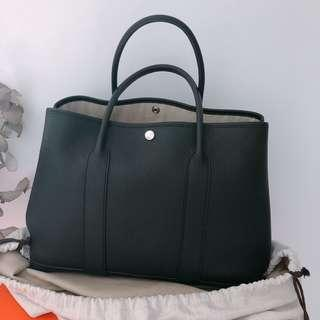 Hermes Garden Party 36 R leather Black