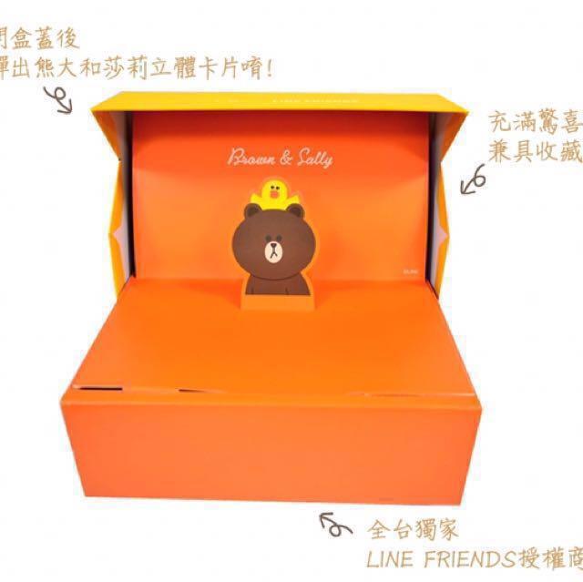 暫停販售-代購470g一之鄉(常溫)line friends龍眼花蜜蜂蜜蛋糕