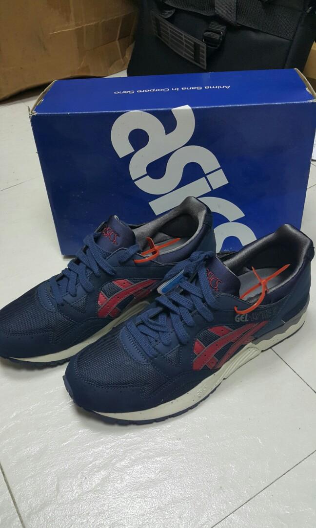 timeless design ca526 af24b 全新 Asics 休閒鞋 Gel Lyte V Premium H5d0y Navy/Burgundy size eu 42.5