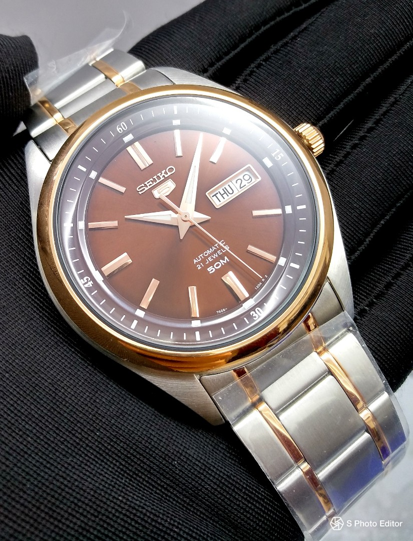 72fb2e036 FREE DELIVERY * Brand New 100% Authentic Seiko 5 Rose Gold Bezel on ...