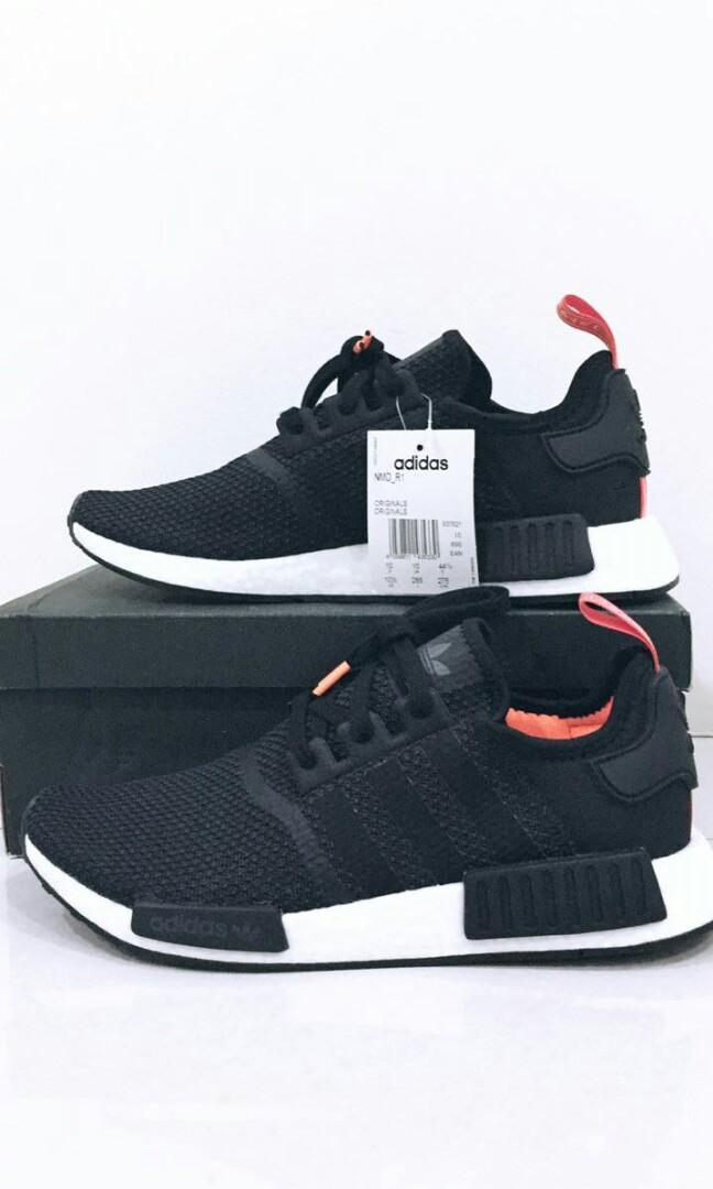 new style 95f79 fe973 Adidas NMD R1 Core Black Solar Orange, Men's Fashion ...