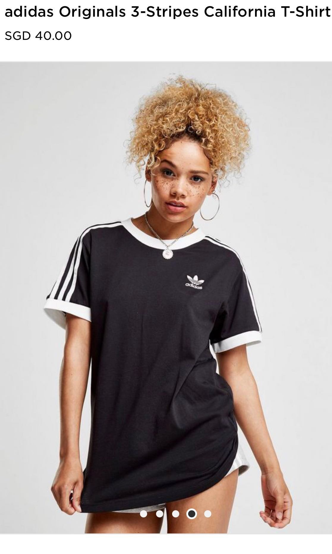 size 40 d0b9c 120aa Adidas Originals 3-Stripes California T-Shirt, Women s Fashion, Clothes,  Tops on Carousell