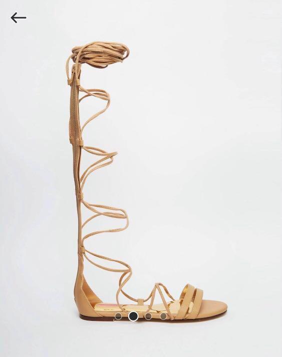 53b54c38e85 ASOS Daisy Street Knee Thigh High Gladiator Sandals