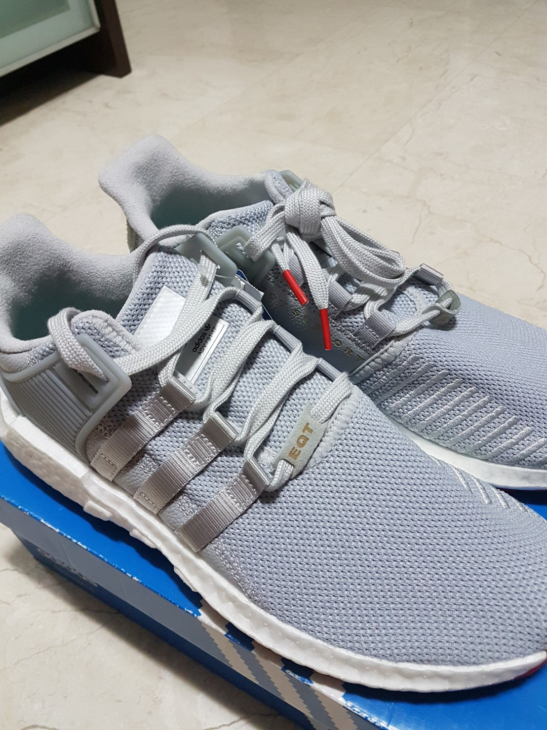 new styles 282dd fd92f Adidas EQT Support 9317 Matte Silver  White, Mens Fashion, Footwear,  Sneakers on Carousell