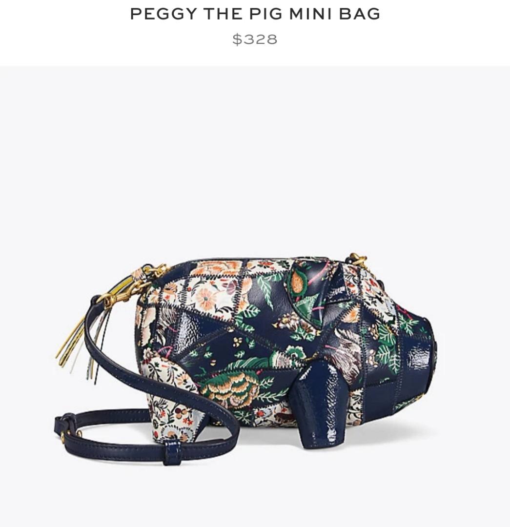3f6e471b0ae7 Authentic Tory Burch Peggy The Pig Mini Bag - Happy Times
