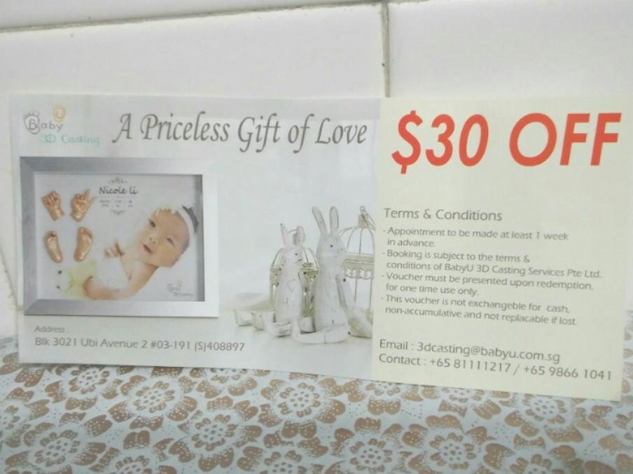 253fd422 Baby U 3D casting voucher for sale, Entertainment, Gift Cards ...