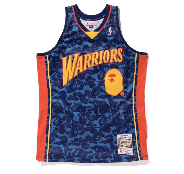 new concept b939f 604f6 Bape Mitchell & Ness - Warriors Jersey Tank Top
