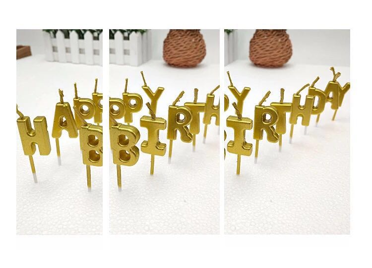 BN Happy Birthday Candles In Gold X2 Design Craft Others On