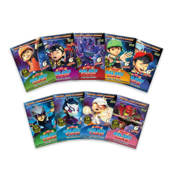 Boboiboy Galaxy Card Set Pek Adiwira 54 Cards Toys Games
