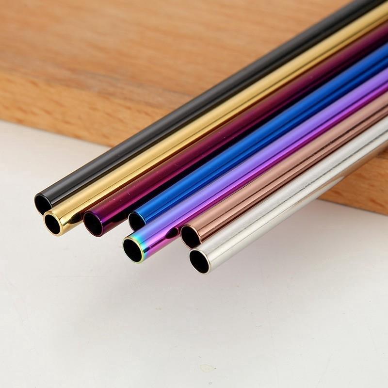 BRAND NEW 5 Pcs set Stainless Steel Straws