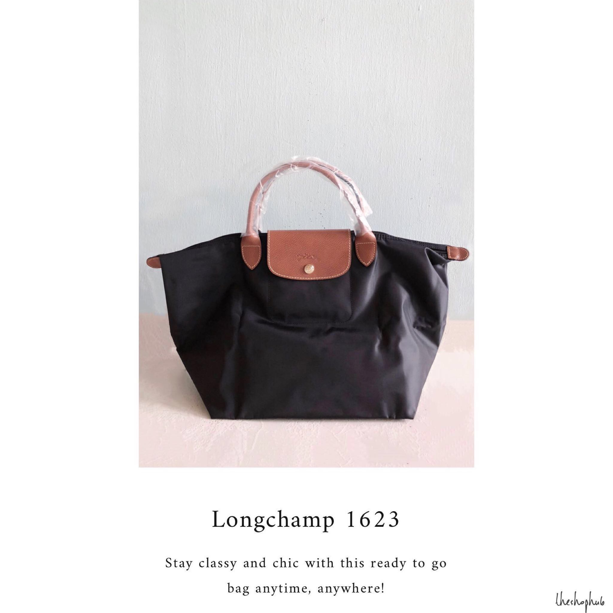pretty nice 83715 f4f80 CHEAPEST  Authentic + New Longchamp Le Pliage Handbag BLACK MEDIUM ...