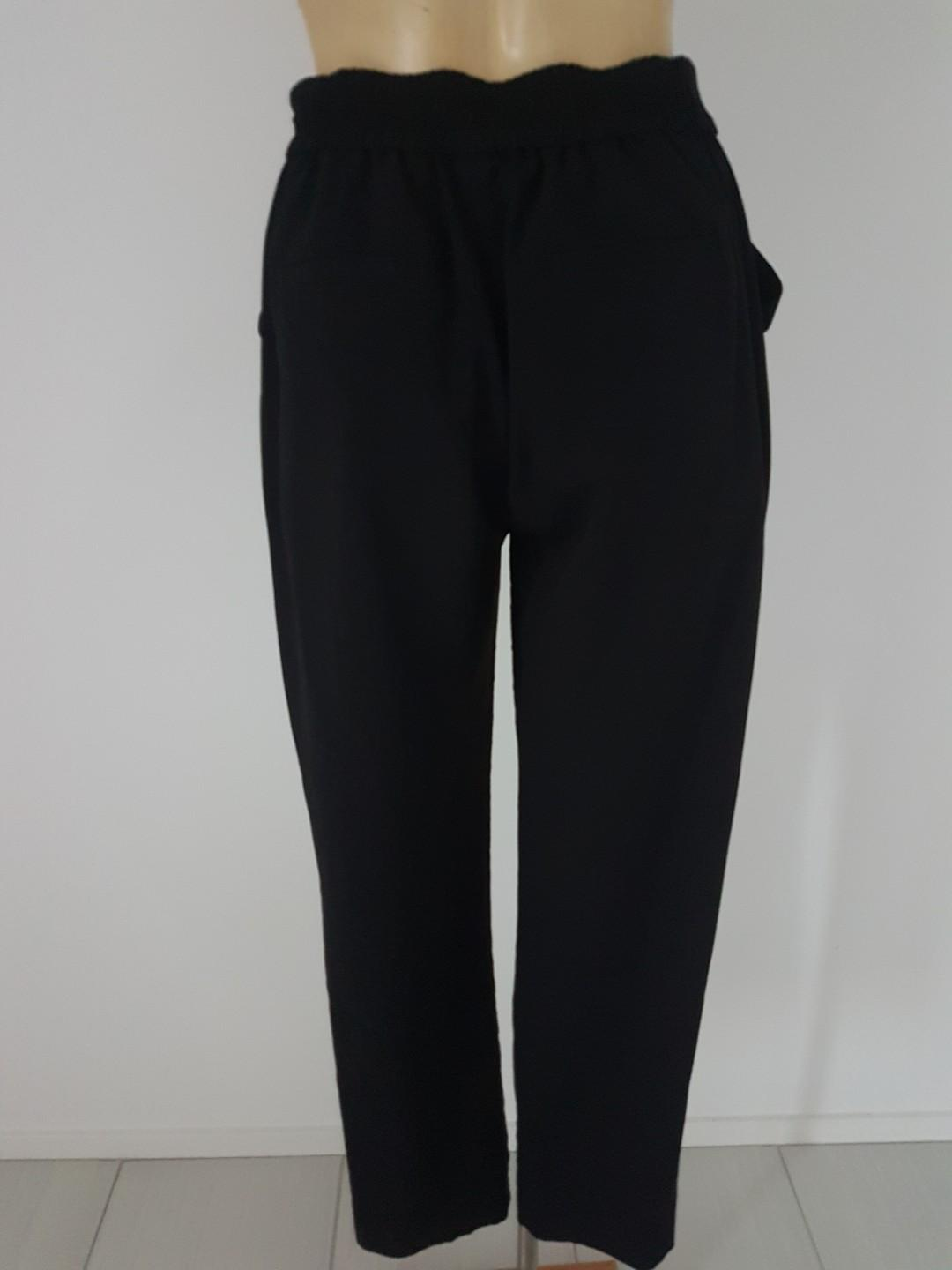 Country Road Size 6 Elastic Waist Black Pants with Pockets