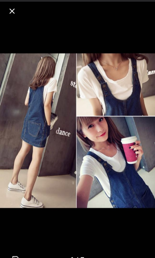 Denim Overall Dress ca45c8751