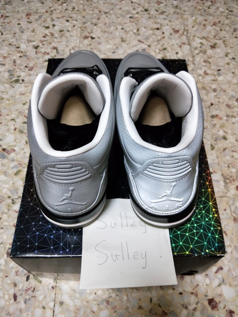 premium selection f219d 06a5b DS US10 Air Jordan 3 5Lab3 Silver 3M Reflective Metallic, Men s Fashion,  Footwear, Sneakers on Carousell