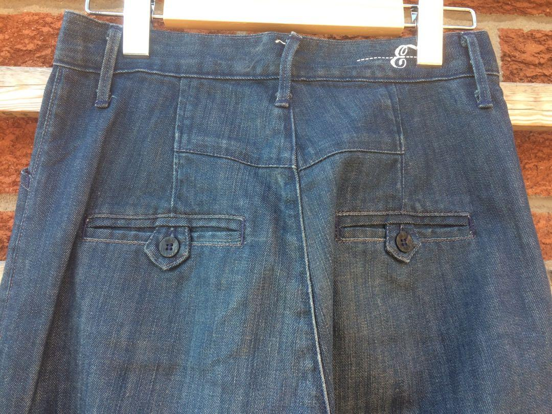 Earnest Sewn jeans high rise trouser leg sz 27
