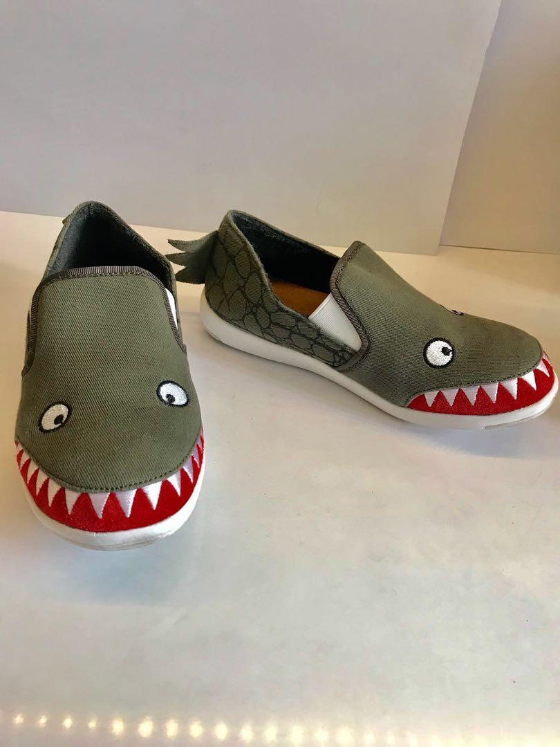 Kids Emu Australia Crocodile Skate Canvas Sneaker