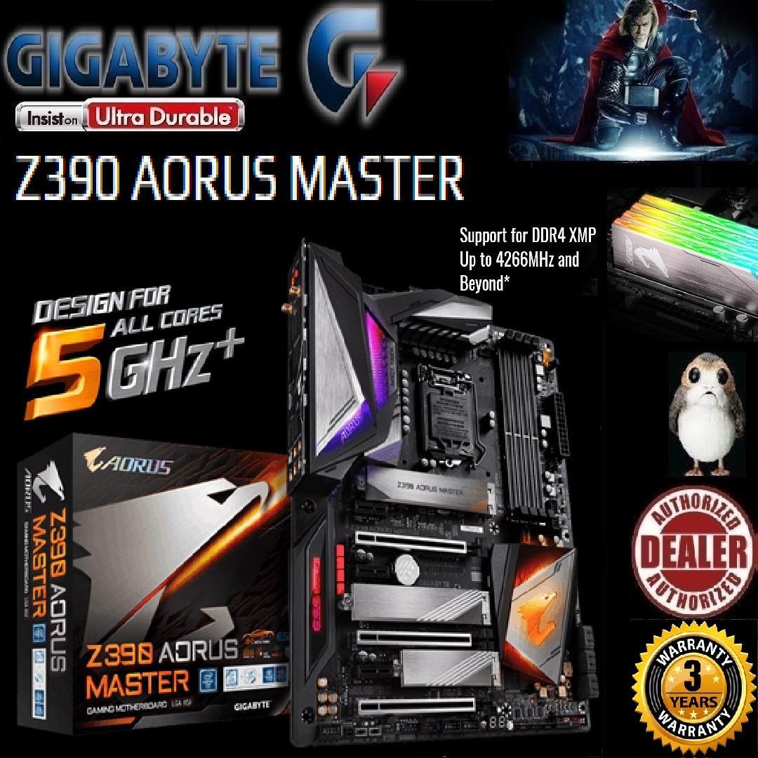 GIGABYTE Z390 AORUS MASTER (Aorus All Cores 5Ghz+ Technology