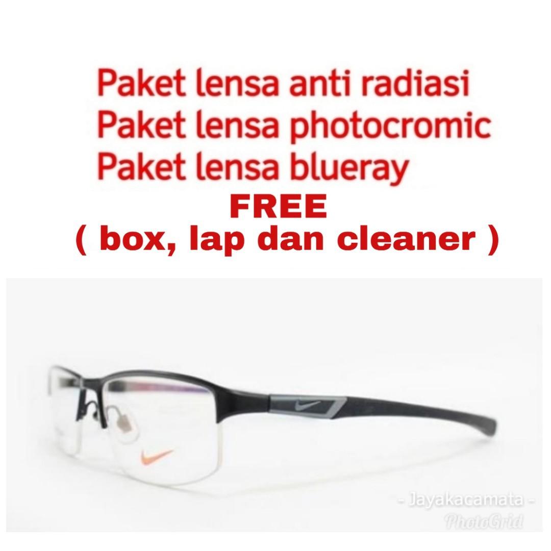 GRATIS LENSA MINUS - Frame kacamata nike 7385, Fesyen Pria, Aksesoris, Kacamata di